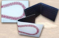 real leather baseball wallet